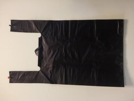 Пакет-майка усиленный ПНД черный